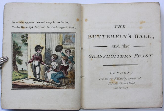 THE BUTTERFLY'S BALL, and the Grasshopper's Feast. by (ROSCOE, William.)