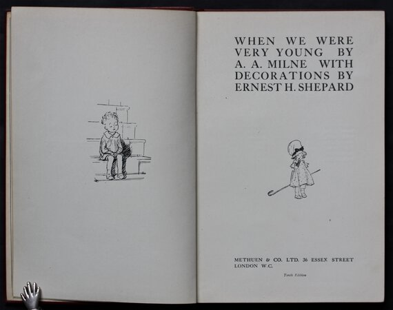 WHEN WE WERE VERY YOUNG By A. A. Milne with Decorations by Ernest H. Shepard. by MILNE, A. A.
