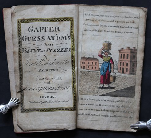 GAFFER GUESS AT 'EM'S First Volume of Puzzles. Embellished with fourteen Engravings in Verse.