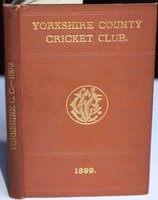 YORKSHIRE COUNTY CRICKET CLUB. Seventh Annual Issue. List of Officers. Members. Diary and Fixtures for Season, 1899. Rules. Laws of Cricket. Matches and Averages, 1898. List of Players who have Played for the County, &c., &c. by WOSTINHOLM, J. B. and STONES, H. H. Edited and compiled by.