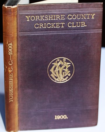 YORKSHIRE COUNTY CRICKET CLUB. Eighth Annual Issue. List of Officers. Fixtures for Season 1900. Rules. Laws of Cricket. Members. Matches and Averages, 1899. County Records. List of Players who have Played for the County. Diary for Season 1900, &c., &c. by WOSTINHOLM, J. B. and STONES, H. H. Edited and compiled by.