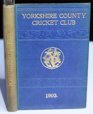 YORKSHIRE COUNTY CRICKET CLUB. Eleventh Annual Issue. List of Officers. Fixtures for Season 1903. Rules and Regulations. Laws of Cricket. Members. Matches and Averages, 1902. County Records. List of Players who have Played for the County. Records in First-class Cricket, &c. by WOSTINHOLM, J. B. and STONES, H. H. Edited and compiled by.