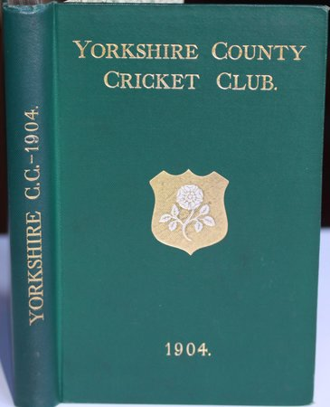 YORKSHIRE COUNTY CRICKET CLUB. Twelfth Annual Issue. List of Officers. Fixtures for Season 1904. Rules. Laws of Cricket. Members. Matches and Averages, 1903. County Records. List of Players who have Played for the County. Records in First-class Cricket, &c. by TOONE, F. C. Edited by.