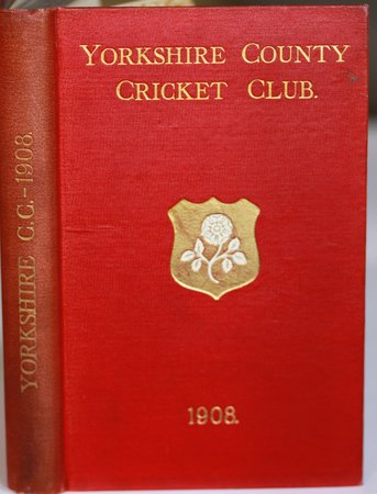 YORKSHIRE COUNTY CRICKET CLUB. Sixteenth Annual Issue. List of Officers. Fixtures for Season 1908. Rules and Regulations. Laws of Cricket. Members. Matches and Averages, 1907. Report and Balance Sheet for 1907 County Records. List of Players who have Played for the County. Records in First-class Cricket. South African Test Matches - 1907. John Tunnicliffe in First-Class Cricket. &c., &c. by TOONE, F. C. Edited by.