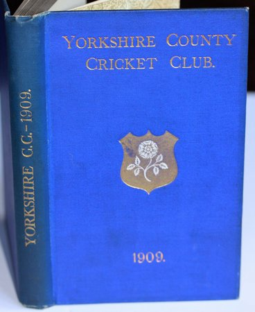 YORKSHIRE COUNTY CRICKET CLUB. Seventeenth Annual Issue. List of Officers. Fixtures for Season 1909. Rules and Regulations. Laws of Cricket. Members. Matches and Averages, 1908. Report and Balance Sheet for 1908. County Records. List of Players who have Played for the County. Records in First-Class Cricket. Gate Receipts. Attendances, and Percentages to Grounds since 1903. Schofield Haigh's Career. &c., &c. by TOONE, F. C. Edited by.