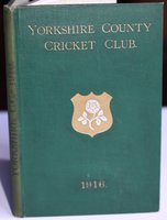 YORKSHIRE COUNTY CRICKET CLUB. Twenty-Fourth Annual Issue. Season 1916. by TOONE, F. C. Edited by.