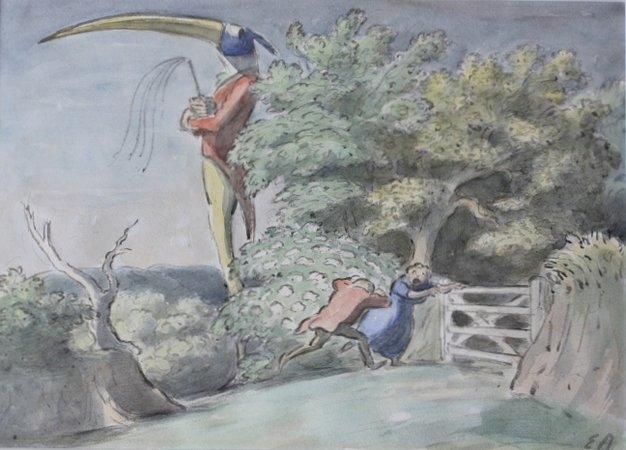 FANTASTIC WATERCOLOUR BY EDWARD ARDIZZONE.