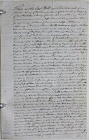 'Attested Copy of Mr Stephen Long's Will – Dated 30 Jany 1776'.