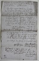 Memorandum of Agreement Between Mr Armstrong and Mr Winter of the Stock of Chichworth Farm, Sept' 26 1777.