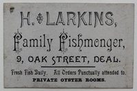 Trade Card of H. Larkins Fishmonger of Deal, in Kent.