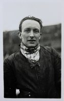 Real photographic postcard of Thomas 'Tommy' Croombs, speedway rider.