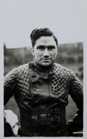 Real photographic postcard of Harold 'Tiger' Stevenson, speedway rider.