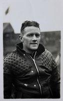 Real photographic postcard of Arthur George 'Bluey' Wilkinson, speedway rider.
