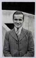 Real photographic postcard of Arthur Atkinson, speedway rider.
