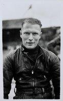 Real photographic postcard of 'Bronco' Dixon, speedway rider.