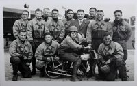Real photographic postcard of the West Ham speedway team, the Hammers, 1937.