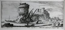 Another image of A series of twelve views of Rome by Israel Silvestre. by [SILVESTRE. Israel ( 1621-1691)].