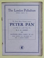 Theatre Programme for Barrie's PETER PAN