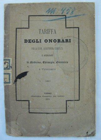 TARIFFA DEGLI ONORARI by [MEDICAL TARIFFS].