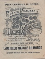 PRIX COURANT by [PHARMACEUTICAL CATALOGUE.] FLACH, Henry.