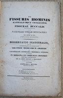 DE FISSURIS HOMINIS MAMMALIUMQUE CONGENITIS by MEYER, Conrad.