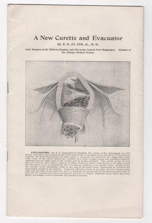 A NEW CURETTE AND EVACUATOR. by [MIDWIFERY.] SAINT-CYR, Emil. Dr.