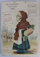 THE ANTIKAMNIA CALENDAR FOR 1900. by [PATENT MEDICINE]. ANTIKAMNIA CHEMICAL CO.,