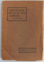 GERICHTLICHE MEDIZIN DER CHINESEN by WANG-IN-HOAI, C.F.M. de GRIJS, and Henry BREITENSTEIN (translator).