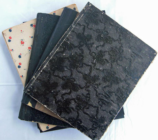 FIVE MANUSCRIPT NOTEBOOKS, IN ENGLISH, CHINESE AND GERMAN, by [CHINESE LANGUAGE]. OERTZEN, Irene von, Baroness.
