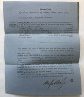 PRINTED SUMMONS TO 'LUCY KIRKLAND OF WETLAND ROCKS NEAR LEEK, by [SOCIAL HISTORY.] [LEGAL SUMMONS.]