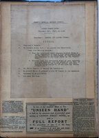 PRINTED AGENDA AND FOUR RELATED NEWSPAPER CLIPPINGS by [WWI]. [WOMEN'S IMPERIAL DEFENCE COUNCIL.]