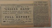 Another image of PRINTED AGENDA AND FOUR RELATED NEWSPAPER CLIPPINGS by [WWI]. [WOMEN'S IMPERIAL DEFENCE COUNCIL.]