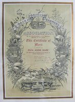 ATTRACTIVE CHROMOLITHOGRAPH CERTIFICATE OF MERIT by [WOMEN ARTISANS.] BRITISH DIARY FARMERS ASSOCATION.