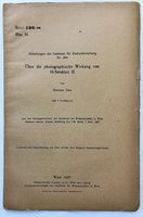Mit des Institutes für Radiuforschung Nr. 208. UBER DIE PHOTOGRAPHISCHE WIRKUNG VON H-STRAHLEN II by BLAU, Marietta.
