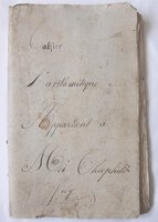 EXTENSIVE AND MOST ATTRACTIVE MANUSCRIPT NOTEBOOK 'CAHIER L'ARITHMÉTIQUE' by [STUDENT ARITHMETIC.] JOLY, Théophile.