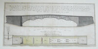 Another image of HAND-COLOURED ENGRAVING FOR A BRIDGE IN MONTPELLIER by [BRIDGE BUILDING].