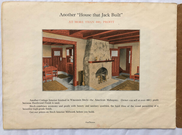 """THE HOUSE THAT JACK BUILT"" by [TRADE CATALOGUE.] HEIDRITTER LUMBER CO.,"