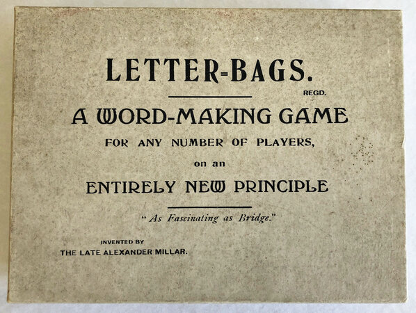 LETTER-BAGS. by [WORD GAME]. [DRURY, MISS M. I., MISS O. H. DRURY, and Alexander MILLAR].