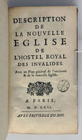 DESCRIPTION DE LA NOUVELLE EGLISE DE L'HOSTEL ROYAL DES INVALIDES. by FÉLIBIEN DES AVAUX, Jean-François.