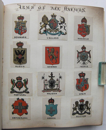 VICTORIAN ALBUM OF ARMS, CRESTS, AND MONOGRAMS, by [CREST COLLECTING.]
