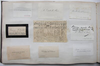 LARGE OBLONG SOUVENIR ALBUM OF CALLING CARDS COMPILED BY THE NOTED VICTORIAN CONCERT PIANIST by DIETZ, Catinka de.