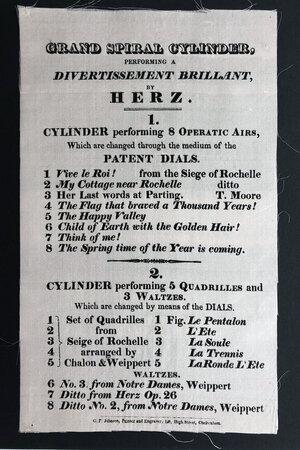 GRAND SPIRAL CYLINDER, by HERZ, Henri.