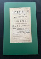 AN EPISTLE TO A YOUNG STUDENT AT CAMBRIDGE by [QUACKERY.]