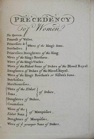 Precedency by Joseph Edmondson Esq. Mowbray Herald. by EDMONDSON, Joseph.