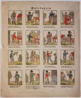 Musikanten [coloured broadside]. by (MUSIC).