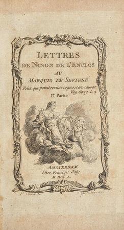 Lettres de Ninon de l'Enclos au marquis de Sévigné. by [DAMOURS, Louis.]