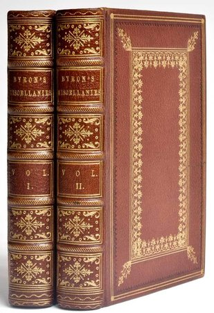 Miscellanies. by BYRON, Lord.