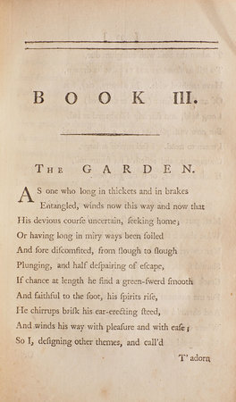 Poems by William Cowper, Of the Inner Temple, Esq. by COWPER, William [1731–1800].
