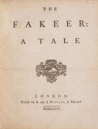 The Fakeer: a Tale. by [CAMBRIDGE, Richard Owen].