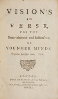 Visions in Verse, for the Entertainment and Instruction of younger Minds... by [COTTON, Nathaniel].